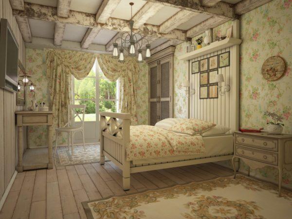 Романтичный прованс – это дерево, цветочные принты, пасторальные пейзажи и ажур салфеток, скатертей и прочих элементов оформления