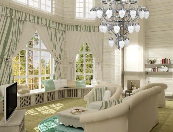 Эркерные окна лучше выдержать в едином стиле