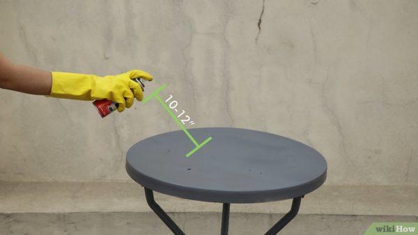Обработка столика аэрозолем