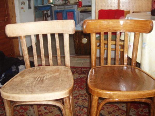 Отреставрированный лакированный стул