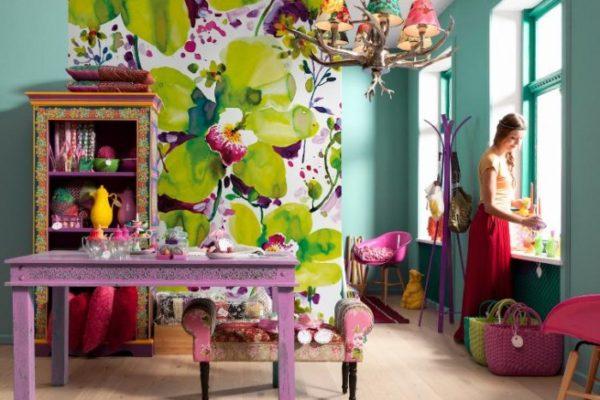 Пример оформления комнаты в стиле бохо