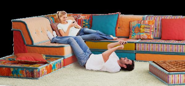 Модульный диван в интерьере дома для Стрельцов