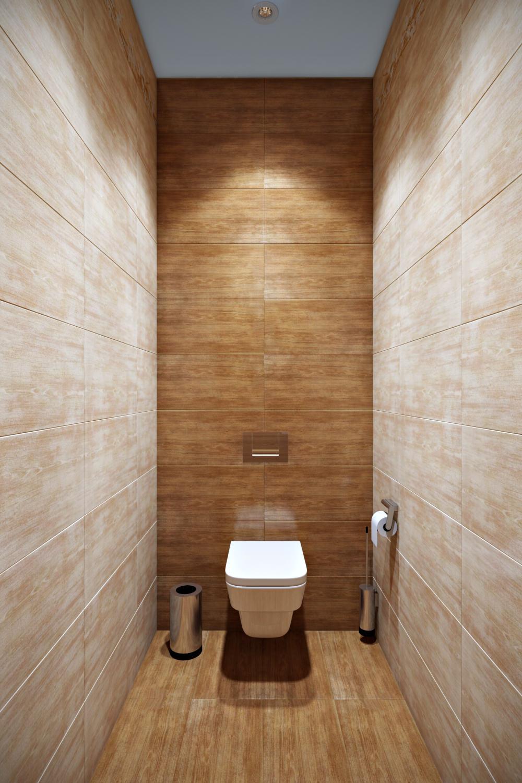 Оформление маленького туалета в стиле минимализм