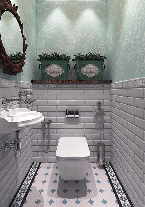 Оформление маленького туалета в стиле прованс