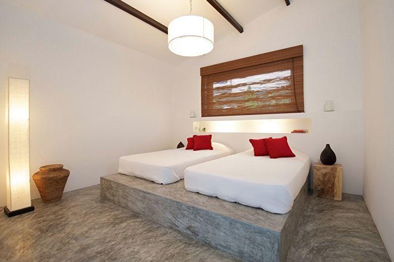 Кровать на монолитном подиуме