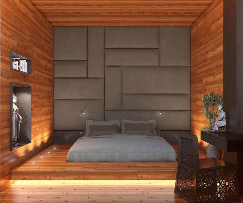 Кровать-подиум с подсветкой
