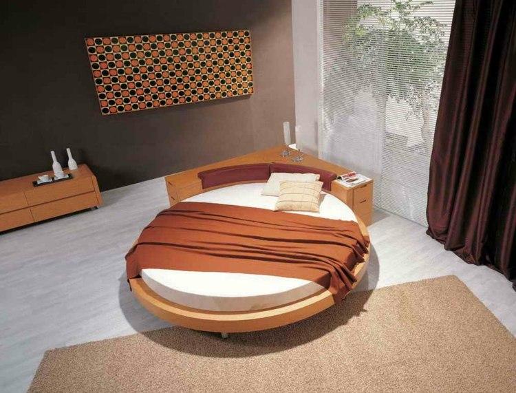 Круглая кровать в стиле минимализм