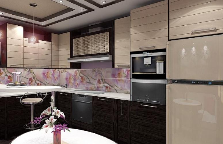 Фартук из скинали на кухне в японском стиле