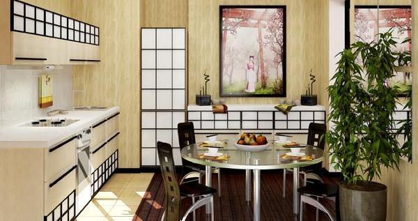 Декор на кухне в японском стиле