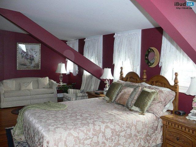 Светильники в спальне на мансарде