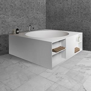 Угловая квариловая ванна