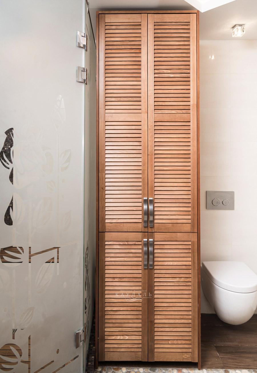 Бельевой шкаф для ванной комнаты