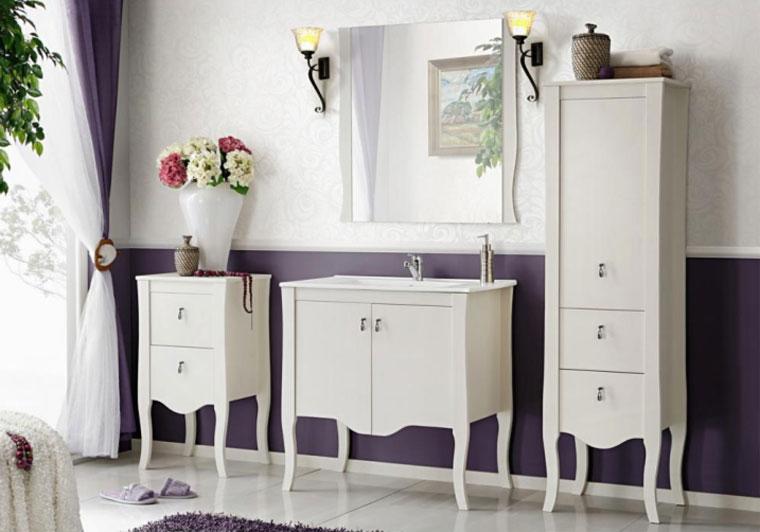 Напольные шкафы для ванной комнаты
