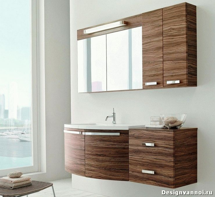 Подвесные шкафы для ванной комнаты