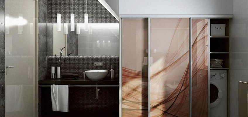 Шкаф-купе для ванной комнаты