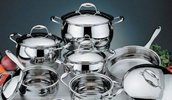 Чистка посуды из нержавеющей стали