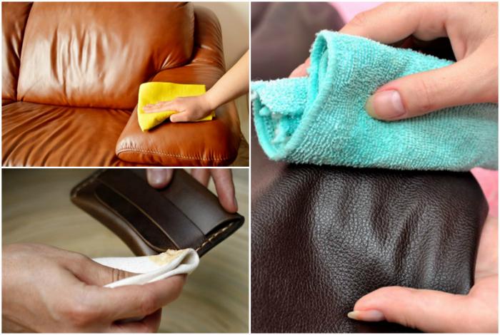 Смазывание кожаных изделий подсолнечным маслом