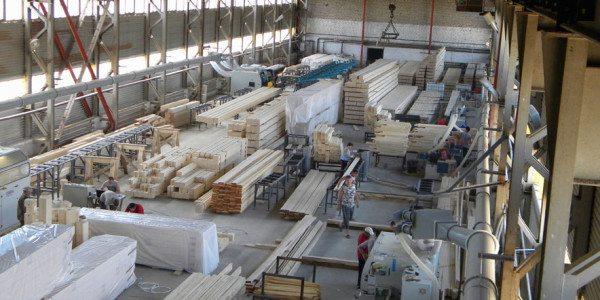 Линия по производству клееного бруса.
