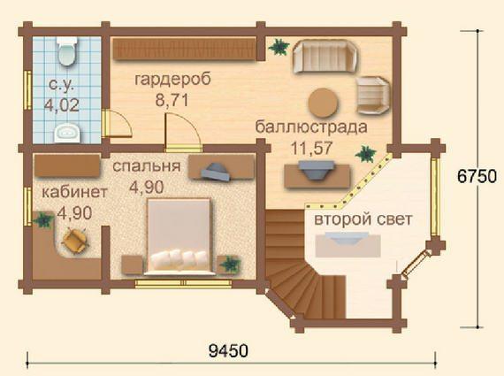 Максимально продуман план второго этажа.