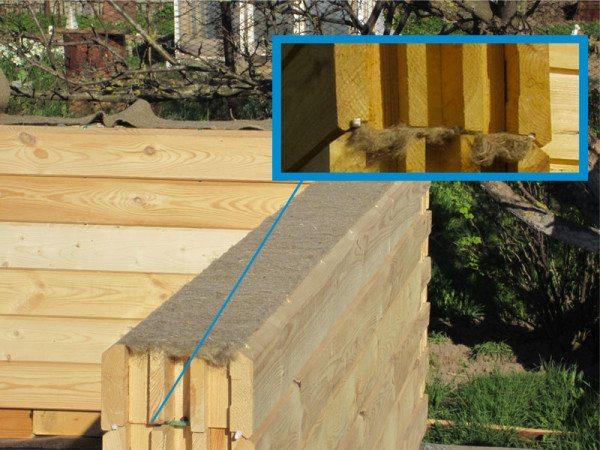 Материал межвенцовый из джута и льна для утепления швов деревянных строений