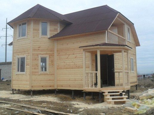 На фото дом готовый к заселению