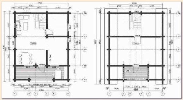На фото представлен примерный план брусового дома