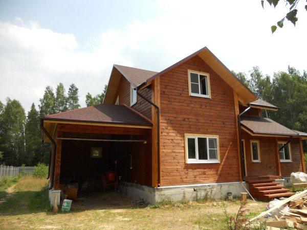 Наглядно изображение дома созданного из бруса