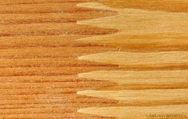 Наглядное изображение стыка после наращивания доски