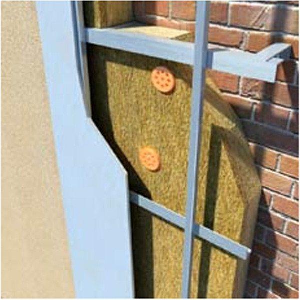 Наружное утепление на примере кирпичного фасада.