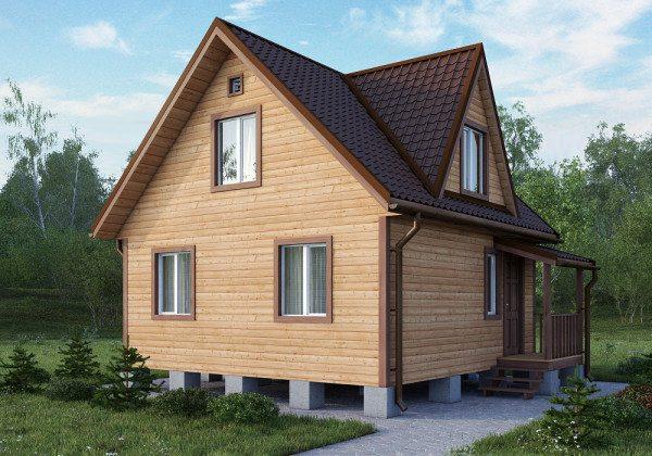 Недорогой дом, выполненный из бруса