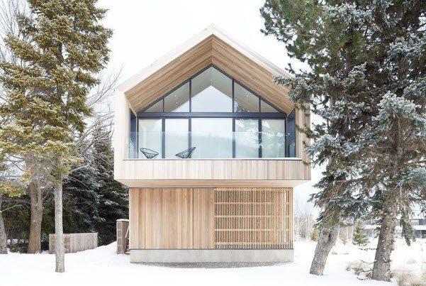 prirje e re e modës në aspektin e arkitekturës.  Ky dizajn është quajtur edhe shtëpi, por me një shtëpi të vërtetë alpine ka pak gjëra të përbashkëta