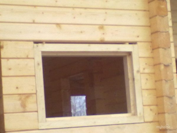 Окосячка окон в брусовой бане