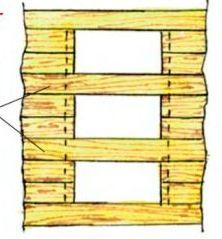 Оптимальный вариант формирования дверного проема в стене из бруса