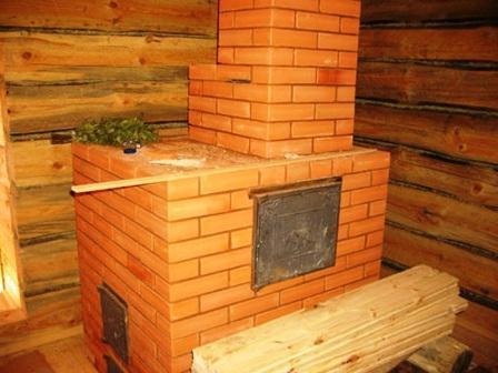 Печь в бане из кирпича