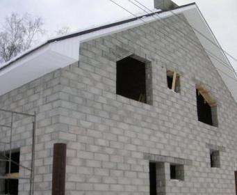Пенобетонные блоки тоже популярны для строительства дома