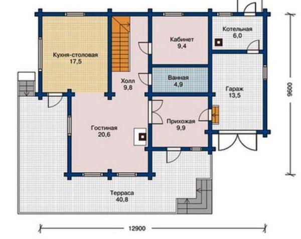 План размещения комнат с указанием их площадей