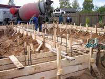 Подготовка фундамента к заливке