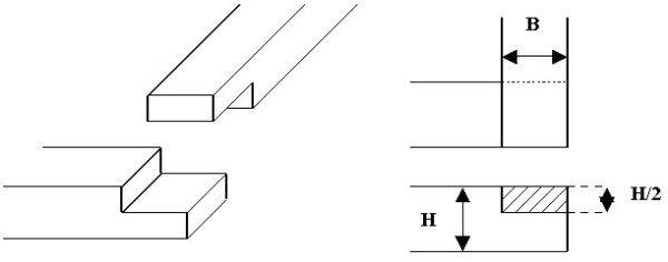 Поперечное соединение в полдерева