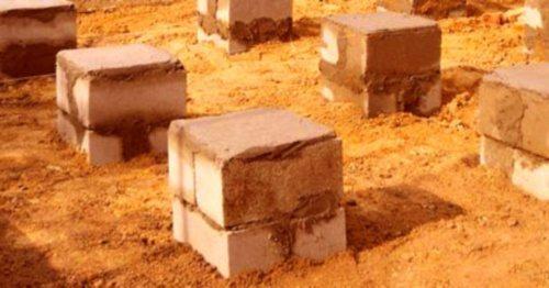 Применим бетонные блоки