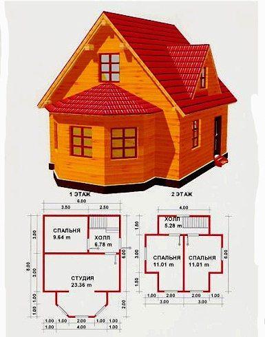 Пример проекта для дома из бруса