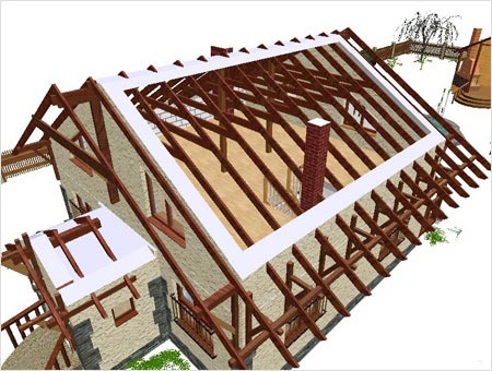 Принцип изготовления легких крыш