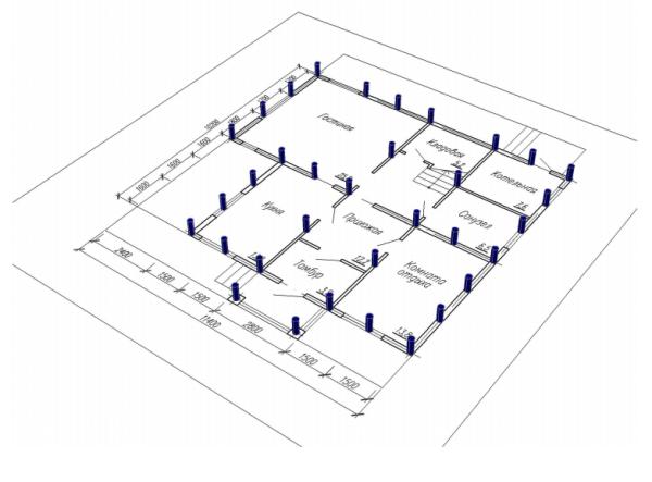 Принцип изготовления свайного поля для монтажа фундамента