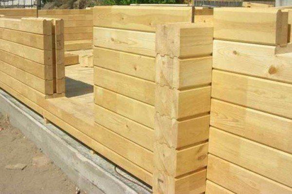 Принцип монтажа стен из клееного бруса