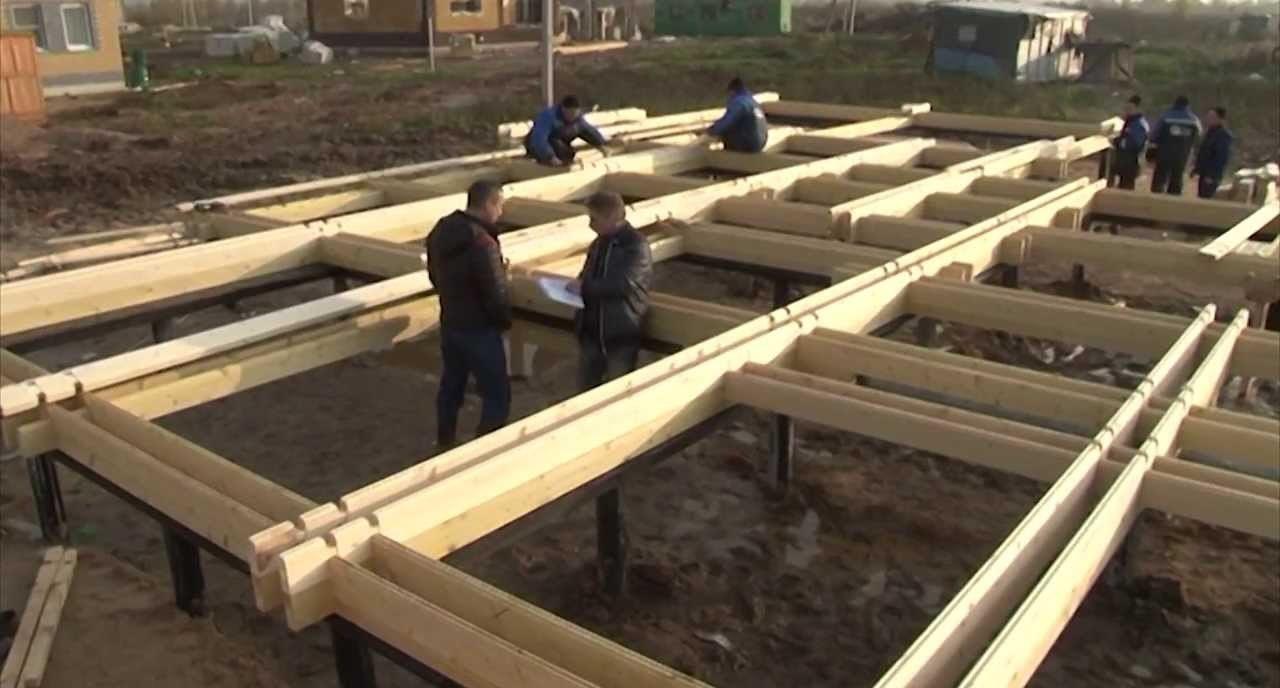 Процесс монтажа здания