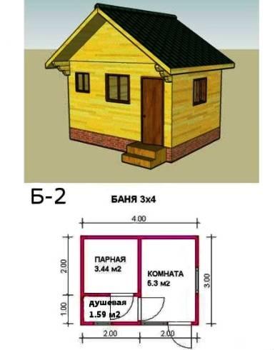 Схема расположения в помещении размером 3на 4
