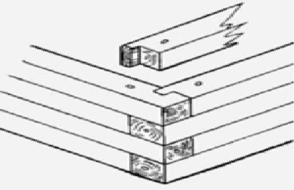 Система соединения в пазы