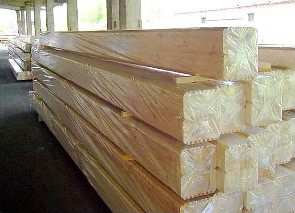Сухие пиломатериалы защищены от влажности заводской упаковкой
