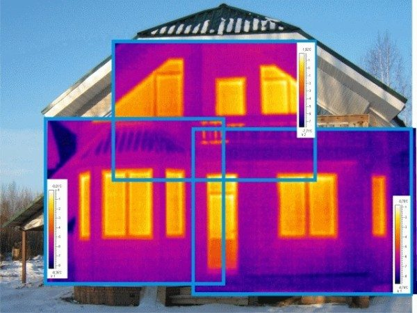 Тепловизор наглядно демонстрирует теплопотери дома