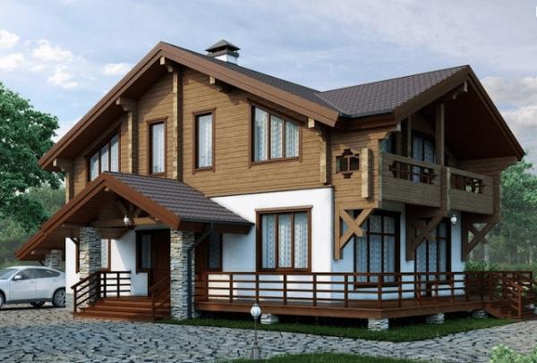 В частном домостроении могут объединяться несколько материалов с весьма разными свойствами.