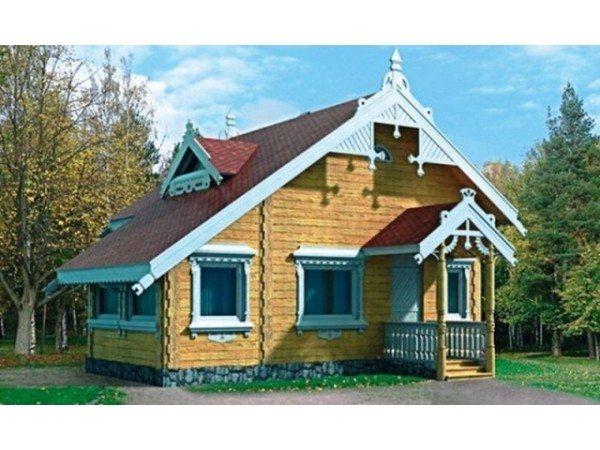 Вариант деревянного дома.